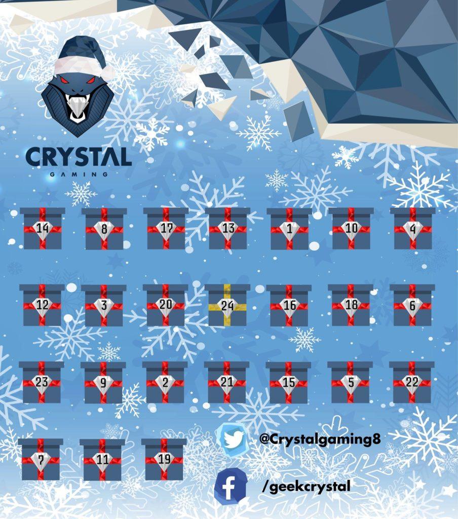 calendrier de l'avent Crystal Gaming